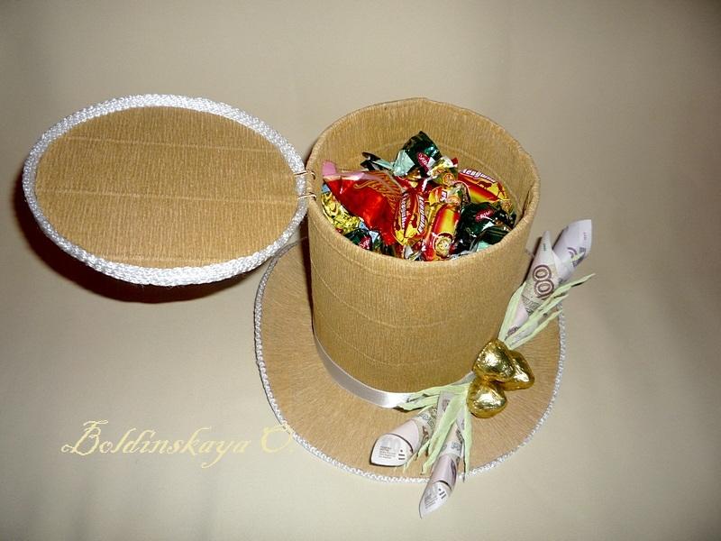 Шляпка из конфет своими руками 51